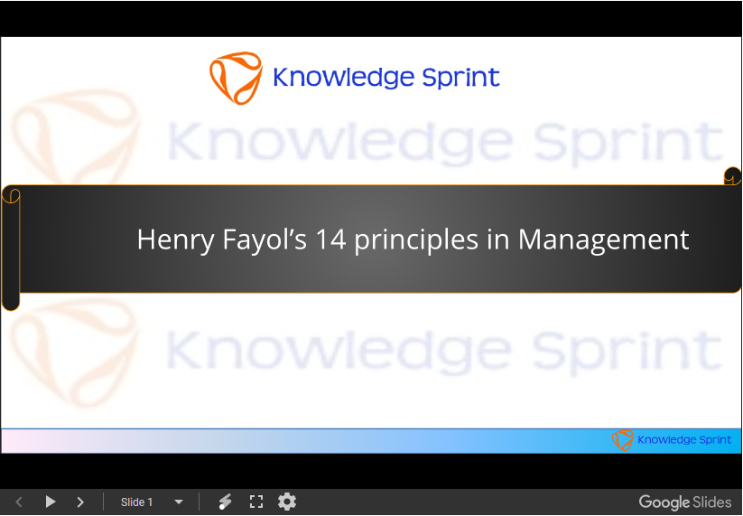 fourteen principles of henri fayol