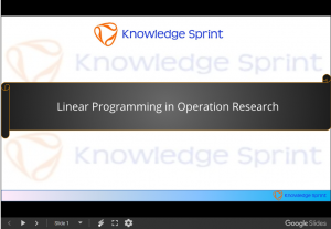 Linear Programming in Operation Research